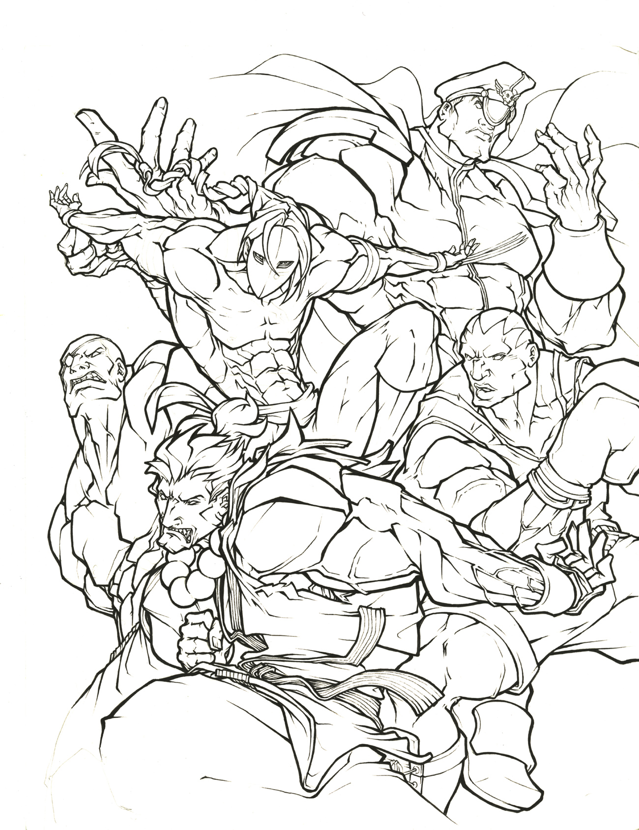 street fighter coloring pages - photo#11